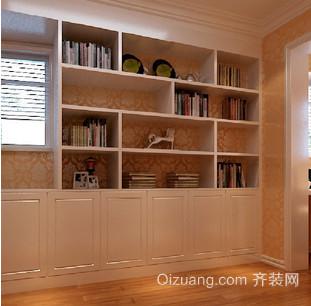 提高读书品味的书柜装修效果图