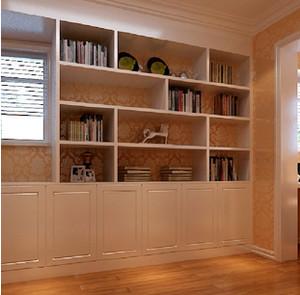 深色调书柜设计图片