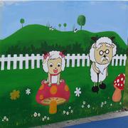 田园气息壁画效果图片