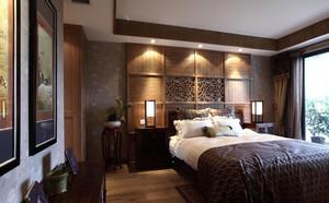 90平米古色古香卧室装修效果图