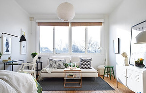 白色简约韩式风格飘窗设计装修效果图大全