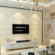 暖色调电视背景墙