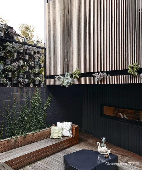 120平米黑白色沉静优雅的白富美公寓装修
