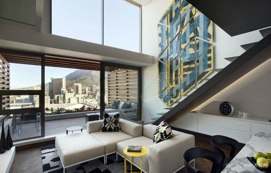 200平米繁华都市时尚海滨复式公寓装修效果图