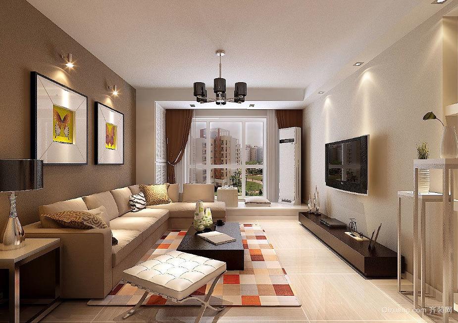 100平米两室小户型简约婚房装修效果图