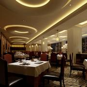 淡色调餐馆设计图片