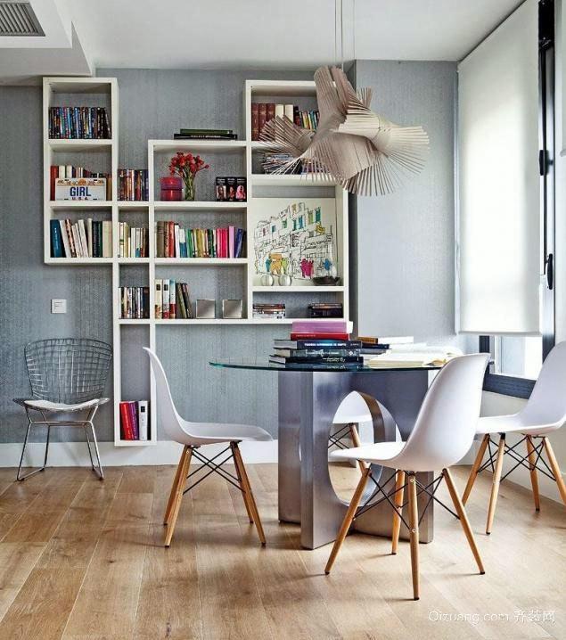 白色起底五彩点缀的超有女人味的单身公寓装修图