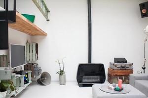 90平米纯白洁净的小公寓装修效果图
