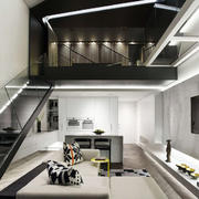 灰色调公寓效果图片
