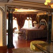 中式风格客厅隔断装修