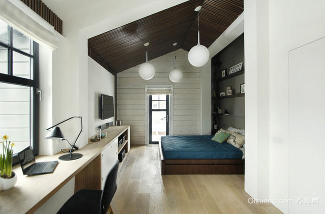 三居室藻蓝色简约都市风格家居装修效果图