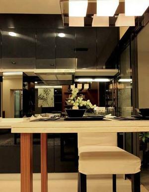 2015浅色宜家东南亚风格吧台装修效果图片