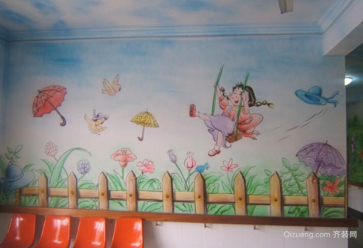增强创新思维幼儿园壁画图片