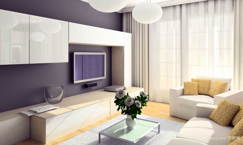 2015全新各式各样的简约大气的客厅装修效果图