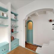 纯白色调别墅圆门设计