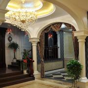 精致型别墅圆门设计