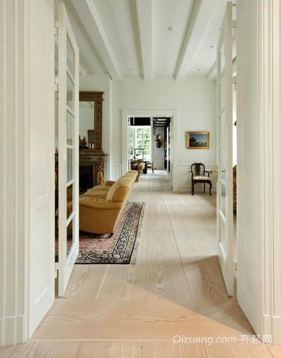 古典美式别墅玄关设计装修效果图