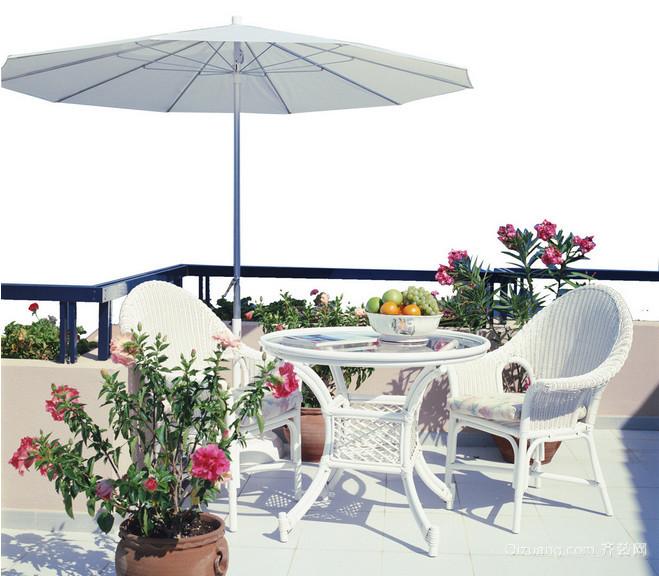 假期中惬意放松露台花园装修效果图