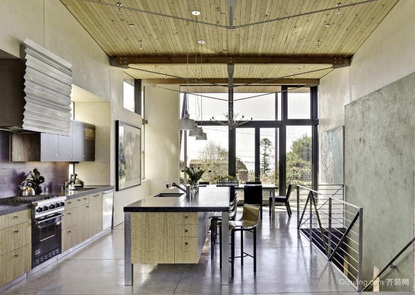 大户型设计合理的欧式开放式厨房装修效果图大全