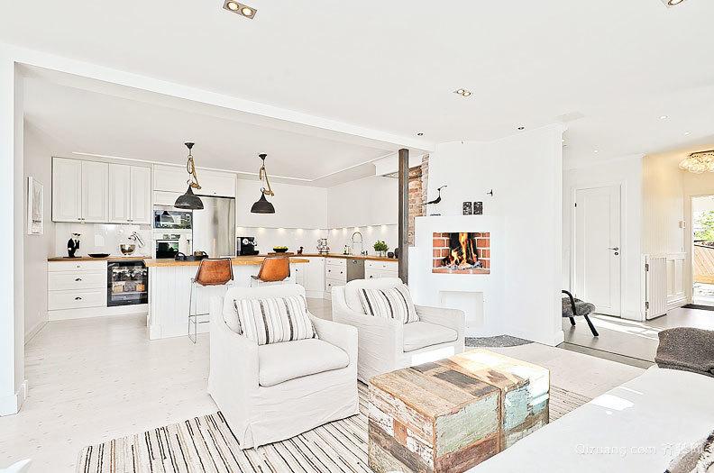 自然亲切的纳维亚风格公寓室内装修设计效果图