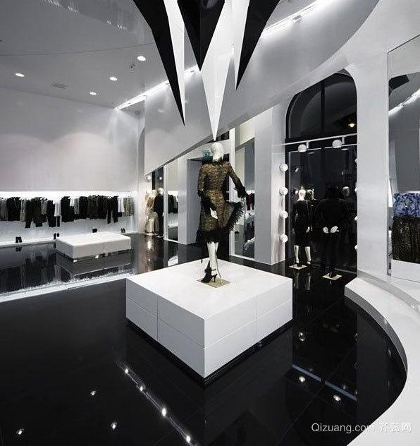 时尚潮牌服装店装修设计效果图