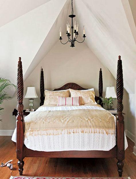 的东南亚风格卧室吊顶造型装修效果图