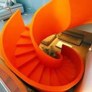 深色调楼梯设计图片