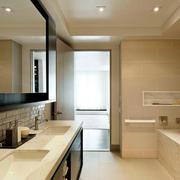 温馨色调浴室装修设计