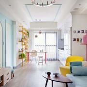 清新色调单身公寓设计