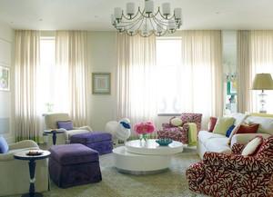 130平米清新优雅浪漫的法式三居室装修效果图