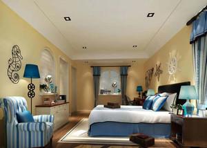 恬静的地中海风格卧室吊顶造型装修效果图大全
