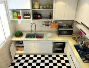 2万元打造的干净明亮式开放式厨房装修效果图