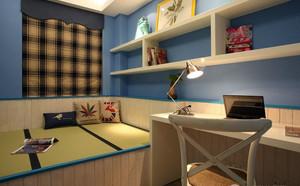 120平米时尚创意卧室榻榻米装修效果图