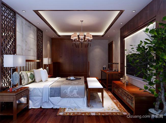 新中式风格卧室吊顶造型装修效果图大全