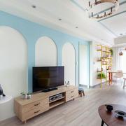 蓝色调单身公寓设计