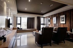 新中式风格飘窗窗帘设计图片鉴赏