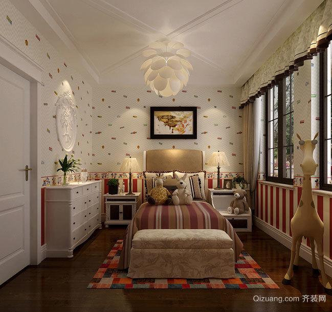 雅致的美式风格卧室吊顶造型装修效果图大全