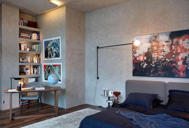 现代都市 工业 风格 卧室吊顶 造型装修效果图大全