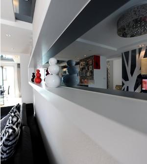80后现代经典单身男士公寓客餐厅软装设计效果图