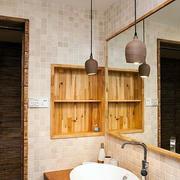 暖色调浴室装修设计