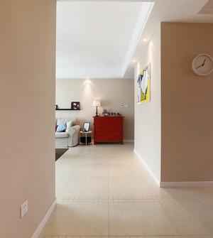 120平米简欧干净小清新三室一厅室内装修效果图