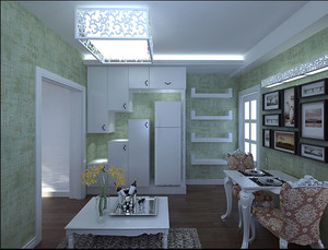 2015设计独到的精致单身公寓装修效果图大全