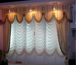唯美飘逸的现代别墅窗帘装修效果图鉴赏