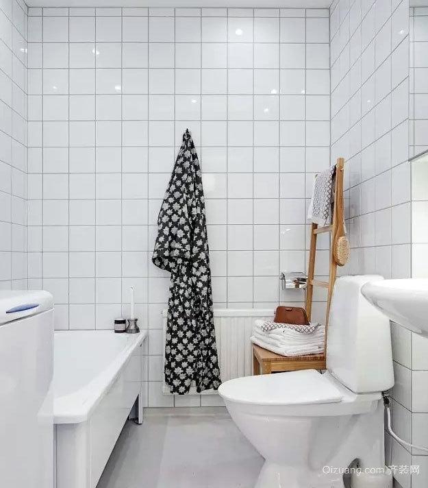 48平米清新小资公寓卫生间设计装修效果图