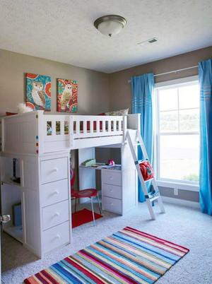 2015流行高人气的儿童房双层床装修效果图鉴赏