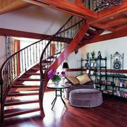 深色调楼梯装修设计