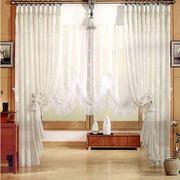 白色调窗帘设计图片