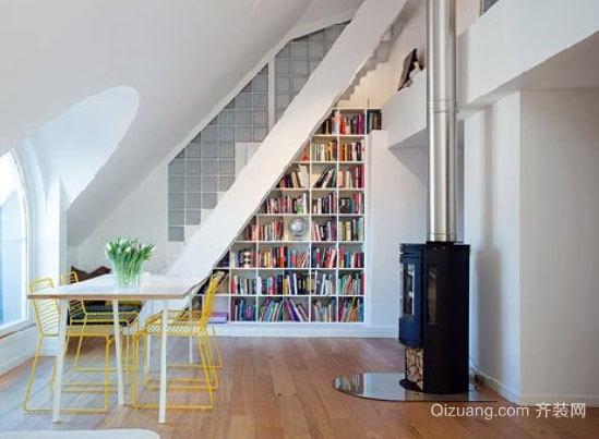 带有中国特色风格的斜顶阁楼装修效果图