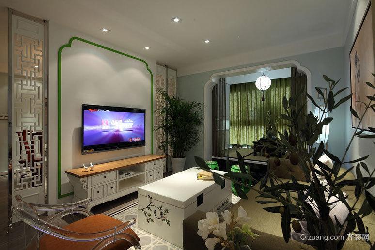 30万打造休闲中式120平米家庭室内设计装修效果图