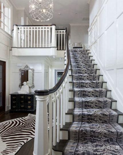 浅色中式风格楼梯装修效果图
